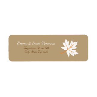 Elegant Fall Maple Leaf Return Address Label