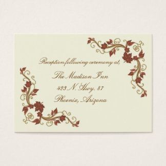 Elegant Fall Wedding enclosure cards