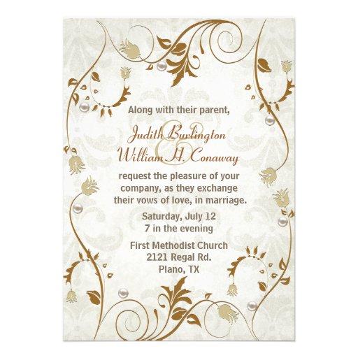 "Elegant Fall Wedding Invitation 5"" X 7"" Invitation Card ..."