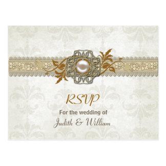 Elegant Fall Wedding RSVP Post Card