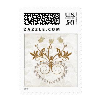 Elegant Fall Wedding Stamp