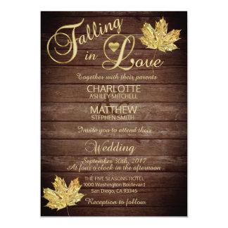 Elegant FALLING in LOVE Rustic Country Wedding Invitation
