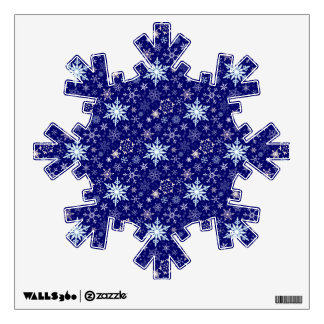Elegant Falling Snow Winter Sky Christmas Holiday Room Sticker