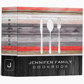 Elegant Family Cookbook Wood Look #2 Binder