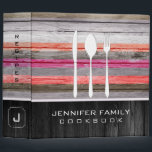 """Elegant Family Cookbook Wood Look Binder<br><div class=""""desc"""">Elegant Family Cookbook Wood Look. Please Select Customize. Remove or change Information prior to purchase. Design is available on other products.</div>"""