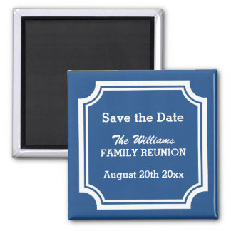 Elegant family reunion Save the date magnets