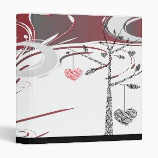 elegant family tree heart geneology  vinyl binder
