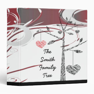 elegant family tree heart geneology 3 ring binder