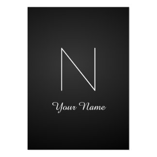Elegant Fancy Stunning Monogram Large Business Cards (Pack Of 100)