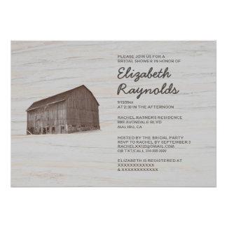 Elegant Farm Bridal Shower Invitations Announcements