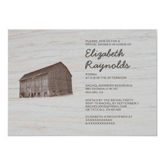 Elegant Farm Bridal Shower Invitations