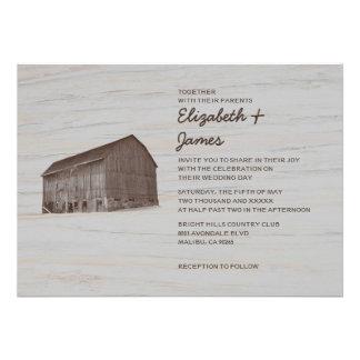 Elegant Farm Wedding Invitations Announcements