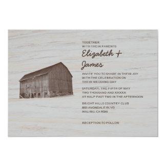 Elegant Farm Wedding Invitations
