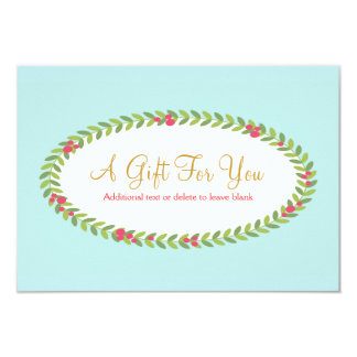 Elegant Fashion & Beauty Holiday Gift Certificate Card