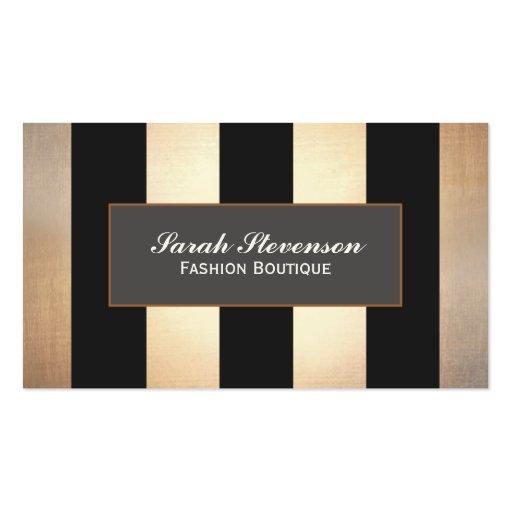 Elegant Fashion Boutique Jewelry Design Striped Business Card Templates