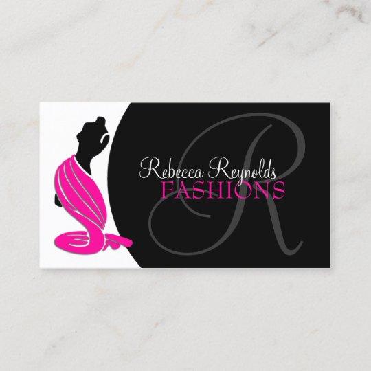 Elegant Fashion Designer Business Card Zazzle