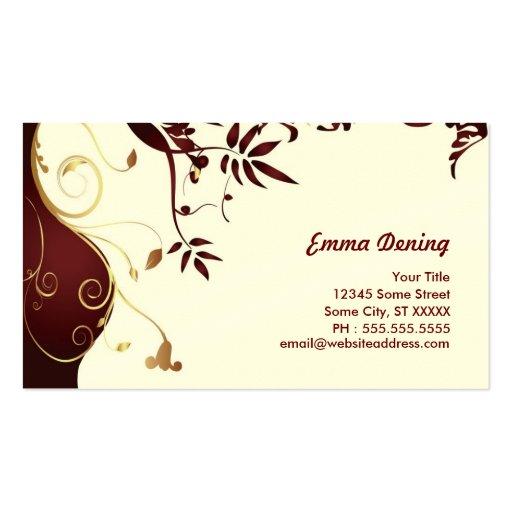 Elegant Fashion Profile Card Business Card
