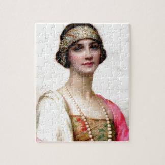 Elegant Fashion Woman painting Jigsaw Puzzle