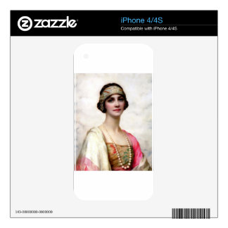 Elegant Fashion Woman painting iPhone 4S Skins