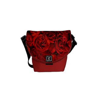 Elegant  Fashionable Deep Red Roses Custom  Design Messenger Bag