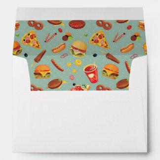 Elegant Fast Food Pattern Envelope