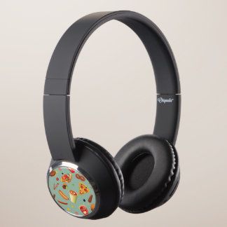 Elegant Fast Food Pattern Headphones
