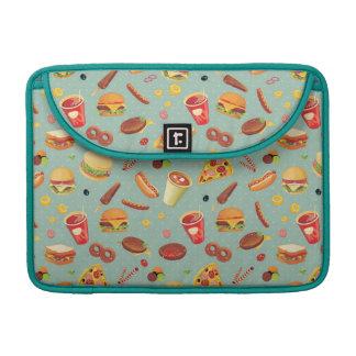 Elegant Fast Food Pattern Sleeves For MacBooks