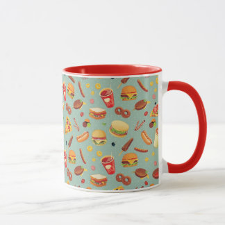 Elegant Fast Food Pattern Mug