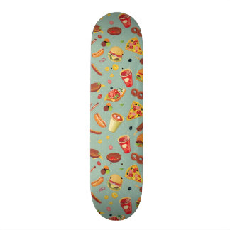 Elegant Fast Food Pattern Skateboard Deck