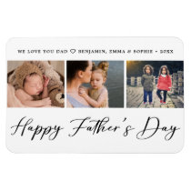 Elegant Father's Day Photo Magnet