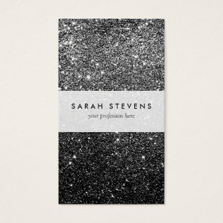 Elegant Faux Black Glitter Business Card
