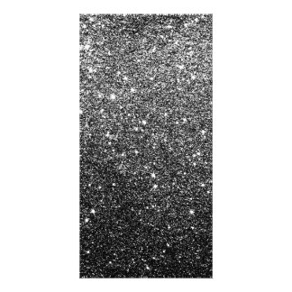 Elegant Faux Black Glitter Card