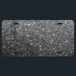 "Elegant Faux Black Glitter License Plate<br><div class=""desc"">Elegant Faux Black Glitter</div>"