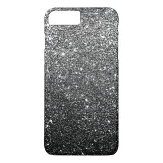 Elegant Faux Black Glitter Luxury iPhone 8 Plus/7 Plus Case