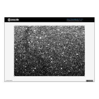 Elegant Faux Black Glitter Skin For Acer Chromebook