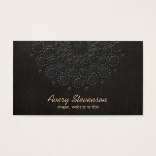 Embossed business cards templates zazzle elegant faux embossed black linen look business card reheart Images