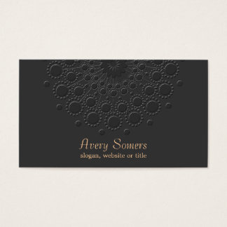 Elegant Faux Embossed Black Professional Business Card