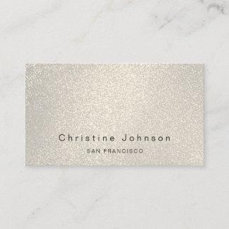 elegant faux glitter effect business card