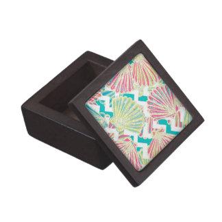 Elegant Faux Glitter Seashells Jewelry Box