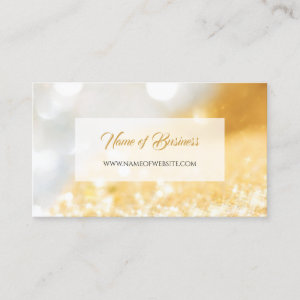 Elegant FAUX Gold and Silver Glitter Bokeh Sparkle Business Card