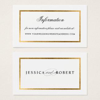 Elegant Faux Gold Border Information Website Business Card
