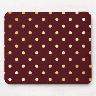 elegant faux gold brown polka dots mouse pad