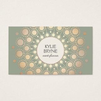 Elegant Faux Gold Circle Motif  Professional Business Card