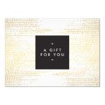 Elegant Faux Gold Confetti Dots Gift Certificate Card