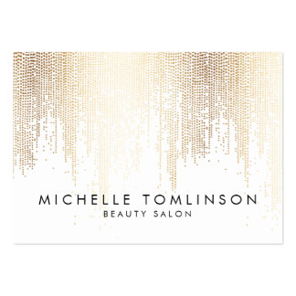 Elegant Faux Gold Confetti Dots Large Large Business Card