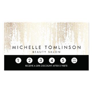 Elegant Faux Gold Confetti Dots Loyalty Punch Card