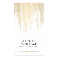 Elegant Faux Gold Confetti Dots on White Double-Sided Standard Business Cards (Pack Of 100)