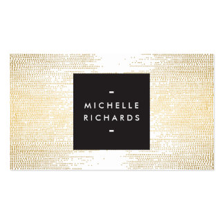 Elegant Faux Gold Confetti Dots on White II Double-Sided Standard Business Cards (Pack Of 100)
