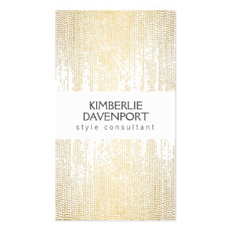 Elegant Faux Gold Confetti Dots on White III Double-Sided Standard Business Cards (Pack Of 100)