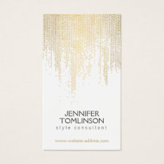 Elegant Faux Gold Confetti Dots Pattern Business Card at Zazzle